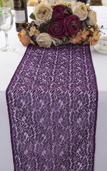 Floral Raschel Lace Table Runners (4 Colors)