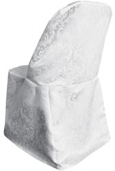 Damask Jacquard Polyester Folding Chair Covers (10 Colors)
