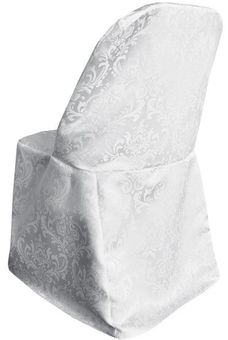 Damask Jacquard Polyester Folding Chair Covers (9 Colors)