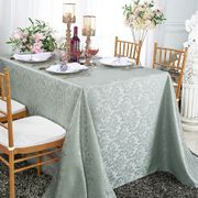 Floral Jacquard Damask Polyester Tablecloths