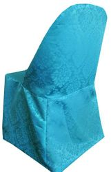 Marquis Jacquard Damask Polyester Folding Chair Covers (8 Colors)