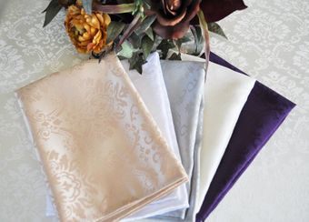 """20"""" x 20"""" Marquis Jacquard Damask Polyester Napkins (12 colors)"""