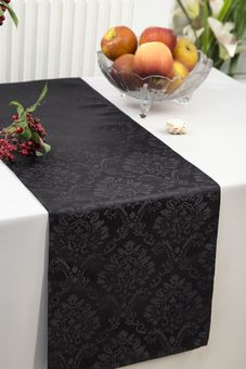 Marquis Jacquard Damask Polyester Table Runners (12 colors)