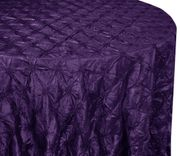 "120"" Pinchwheel Taffeta Tablecloth - Eggplant 66945 (1pc/pk)"