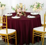 "Clearance 120"" Seamless Round Scuba (Wrinkle-Free) Tablecloth - Burgundy 20610 (1pc/pk)"
