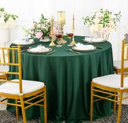 "108"" Seamless Round Scuba (Wrinkle-Free) Tablecloth - Hunter Green 20519 (1pc/pk)"