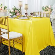 "90""x 132"" Seamless Rectangular Scuba (Wrinkle-Free) Tablecloth - Canary Yellow 21116 (1pc/pk)"
