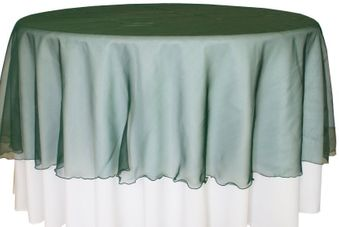 """90"""" Round Seamless Organza Table Overlays (41 colors)"""