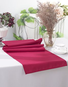 """13"""" x 108"""" Polyester (200 GSM) Heavy Duty Table Runners (27 colors)"""