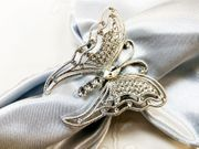 Rhinestone Napkin Ring - Butterfly 72417silver (1pc/pk)