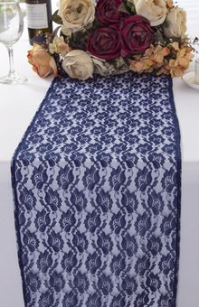 Rose Raschel Lace Table Runners (4 Colors)