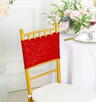 """Sample 7""""x 13"""" Sequin Spandex Chair Bands (21 Colors)"""