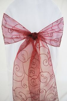 Sample Embroideried Chair Sashes (31 Colors)