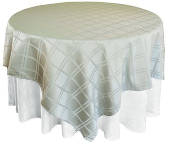 Square Plaid Jacquard Polyester Table Overlays/ Table Cloths (6 Colors)