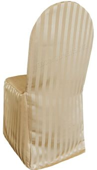 Striped Jacquard Polyester Banquet Chair Covers (4 colors)