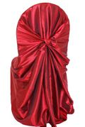 Taffeta Universal Self Tie Chair Cover- Apple Red 61008(1pc/pk)