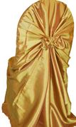 Taffeta Universal Self Tie Chair Cover- Gold 61027(1pc/pk)