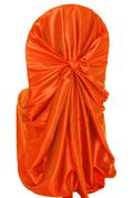 Taffeta Universal Self Tie Chair Cover- Orange 61033(1pc/pk)