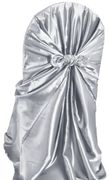 Taffeta Universal Self Tie Chair Cover- Platinum 61050(1pc/pk)