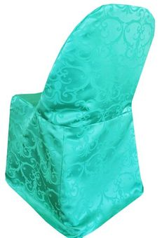 Versailles Chopin Jacquard Damask Polyester Folding Chair Covers (10 Colors)