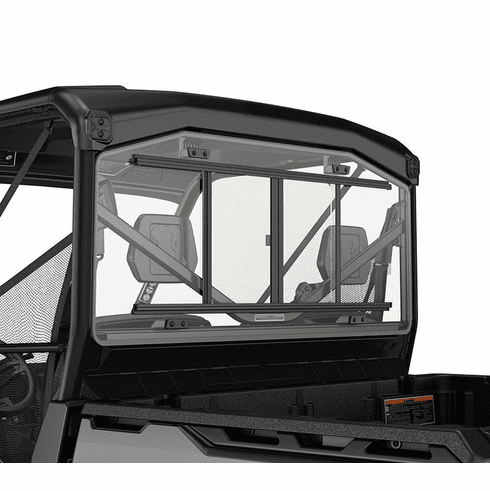 Kubota Rtv 1100 >> Can Am Defender Rear Glass Window with Sliding Panel
