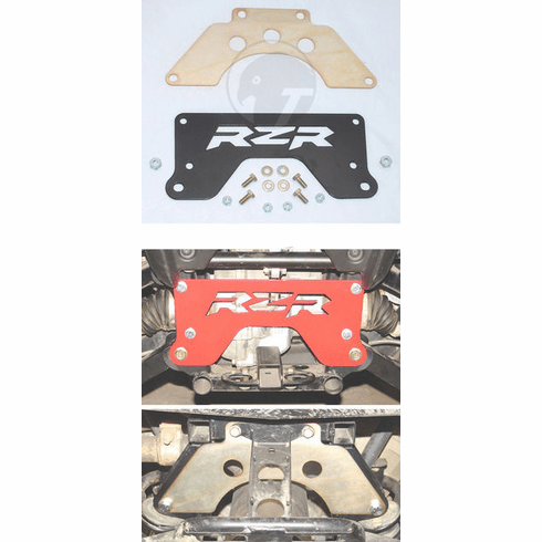 Complete Rear Chassis Brace Kit, Red, Polaris RZR