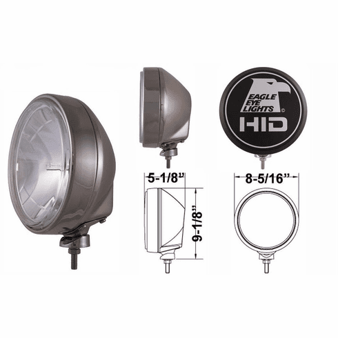 """Eagle Eye - 9"""" Stainless 35W Or 50W Hid Lights"""