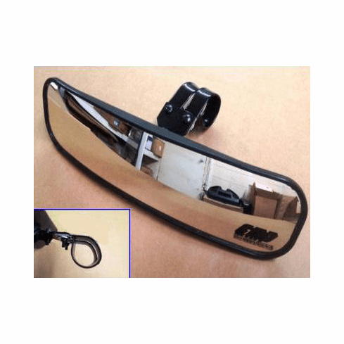 """EMP 13"""" Wide Panoramic Rear View Mirror for 1-1/2""""-1-5/8"""" Cage"""