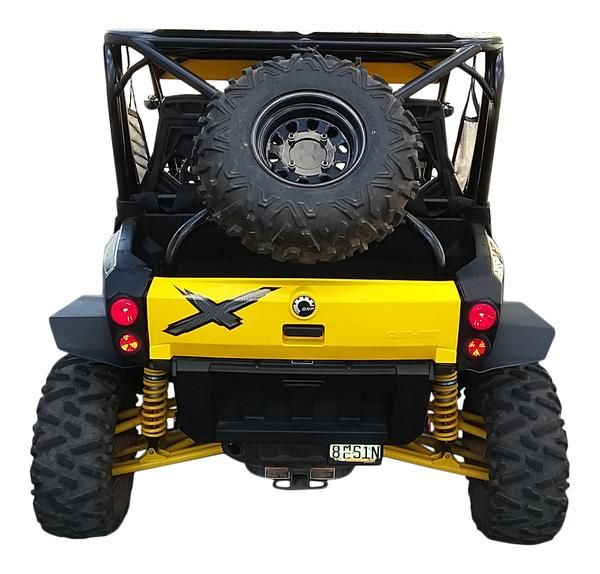 Front /& Rear MudBusters Fender Extensions for Can Am Commanders with Factory XT Fenders Full Set