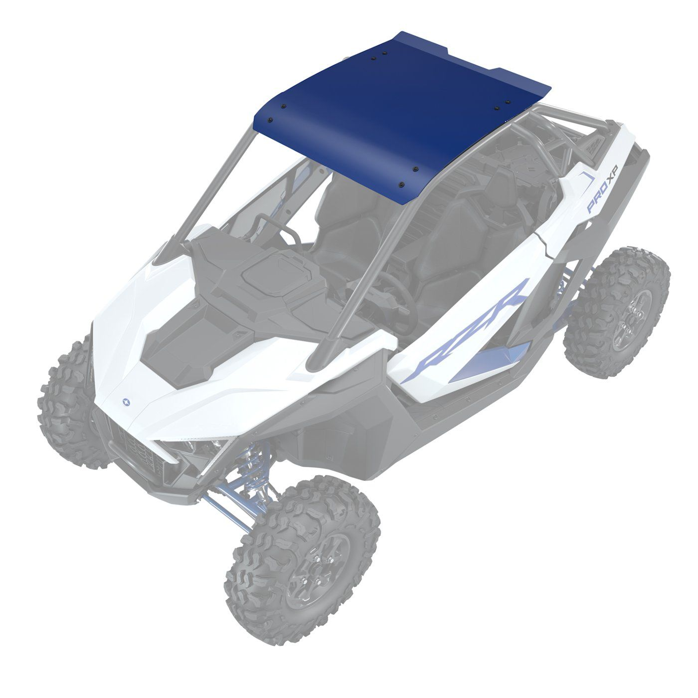 Polaris Rzr Pro Xp Aluminum Roof Black Red Blue