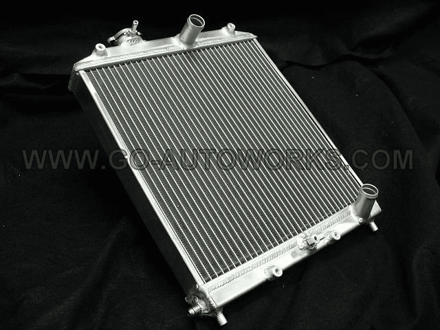GO-AUTOWORKS 1/2 Sized Radiator w/ -6AN return