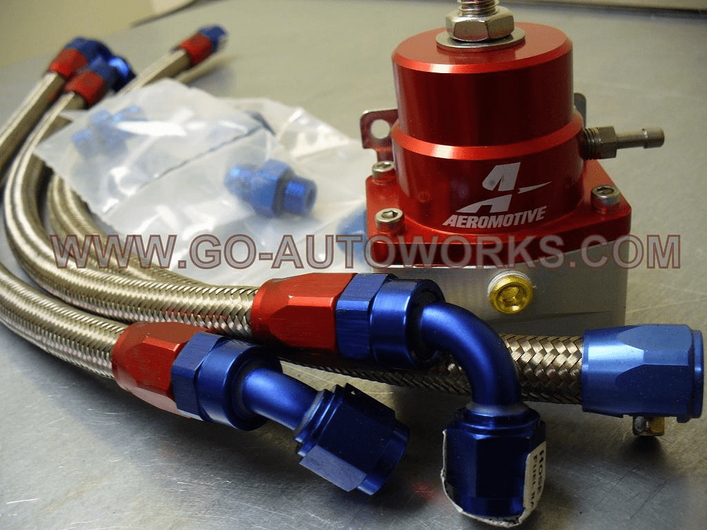 GO-AUTOWORKS Aeromotive Regulator/Line Bolt On Fuel Kits