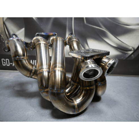 GO-AUTOWORKS Divided/Twin Scroll Top Mount manifold