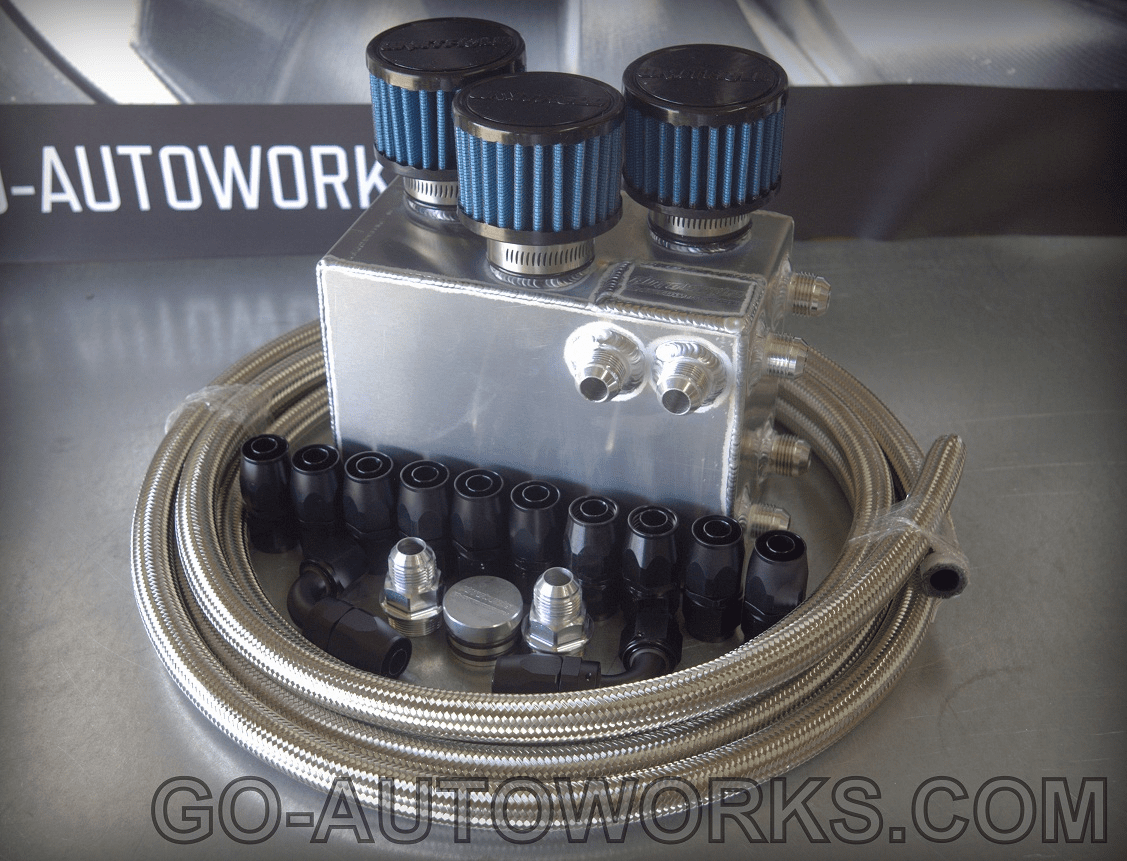 GO-AUTOWORKS GT Oil Catch Can Kit