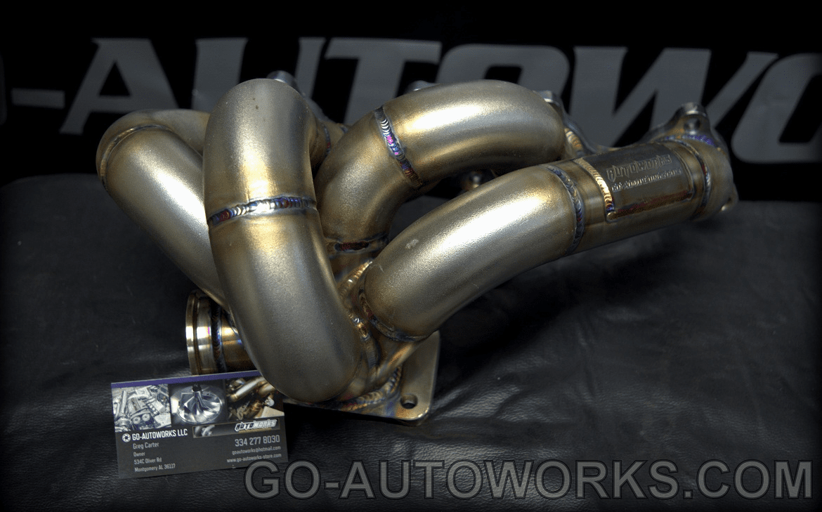 GO-AUTOWORKS H22/H23/F20B Bottom Mount Turbo Manifold V2