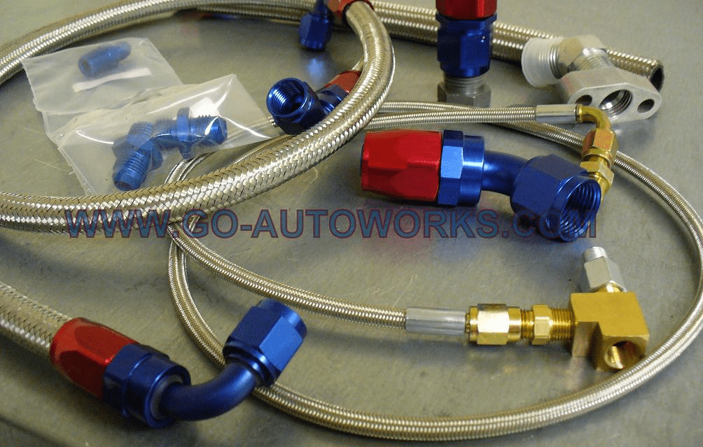 GO-AUTOWORKS Pro GT/BB turbocharger Complete Oil & Water line kit