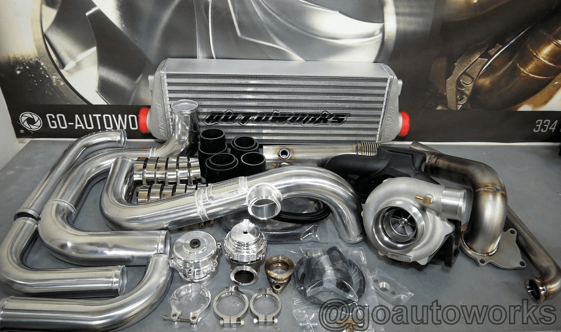 GO-AUTOWORKS SX500 Ball Bearing Turbo Kit 200-500HP A/C
