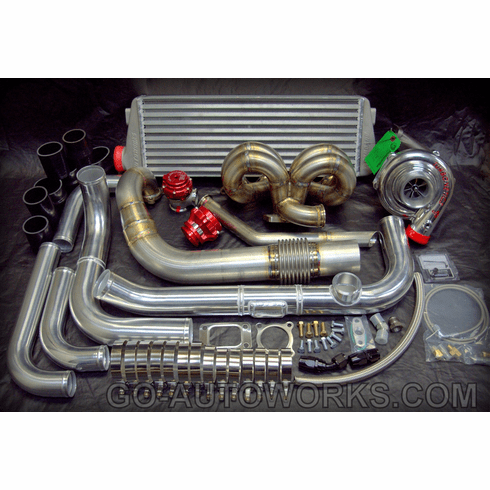 NEW GO-AUTOWORKS Ball Bearing A/C P-X650 Turbo Kit