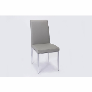 Chintaly - Alexis Rolled Back Chair in Grey Set of 4 - ALEXIS-SC-GRY