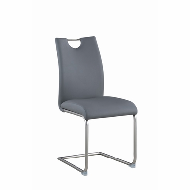 Chintaly - Carina Handle Back Cantilever Side Chair in Gray (Set of 4) - CARINA-SC-GRY