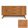 Copeland Furniture - Audrey 1 Door On Either Side of 3 Drawers Buffet in Natural Cherry - 6-AUD-50-03