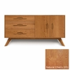 Copeland Furniture - Audrey 3 Drawers On Left, 2 Doors On Right Buffet in Natural Cherry - 6-AUD-52-03