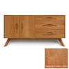 Copeland Furniture - Audrey 3 Drawers On Right, 2 Doors On Left, Buffet in Natural Cherry - 6-AUD-51-03