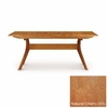 """Copeland Furniture - Audrey 60"""" Table Easystow Extension Leaf Storage in Natural Cherry - 6-AUD-23-03"""