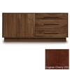 "Copeland Furniture - Moduluxe 29"" 3 Drawers On Right 2 Doors On Left Dresser in Cognac Cherry - 4-MOD-51-33"