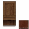"Copeland Furniture - Moduluxe 35"" Box Nightstand Plinth Base Bed 18 12 Wide in Cognac Cherry - 2-MOD-05-33"