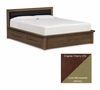 "Copeland Furniture - Moduluxe 35"" King Bed Uph Headboard Storage in Cognac Cherry - Lime - 1-MPD-31-33-STOR-89145"