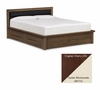 "Copeland Furniture - Moduluxe 35"" Queen Bed Uph Headboard Storage in Cognac Cherry - Oyster - 1-MPD-32-33-STOR-89113"