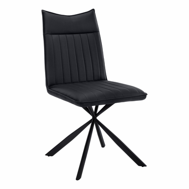 """Monarch Specialties - Dining Chair (Set Of 2) 36""""H Black Leather Look Black - I-1215"""