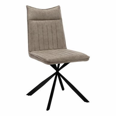 """Monarch Specialties - Dining Chair (Set Of 2) 36""""H Taupe Fabric Black Metal - I-1216"""